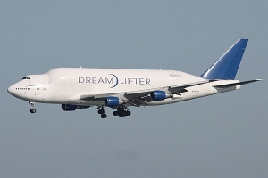 Boeing 747-4J6(LCF) Dreamlifter, Evergreen International Airlines, N747BC, c/n 2 © Ben Wang