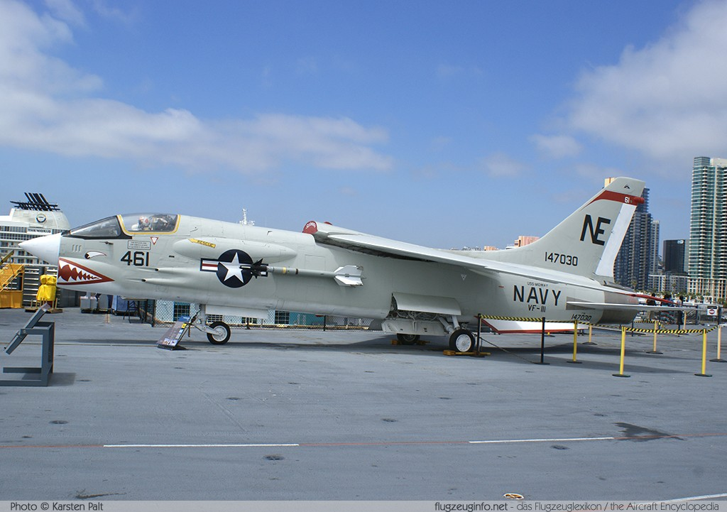 A U S Navy Vought F8u 1 Crusader Buno 143685 Of Fighter Squadron Vf