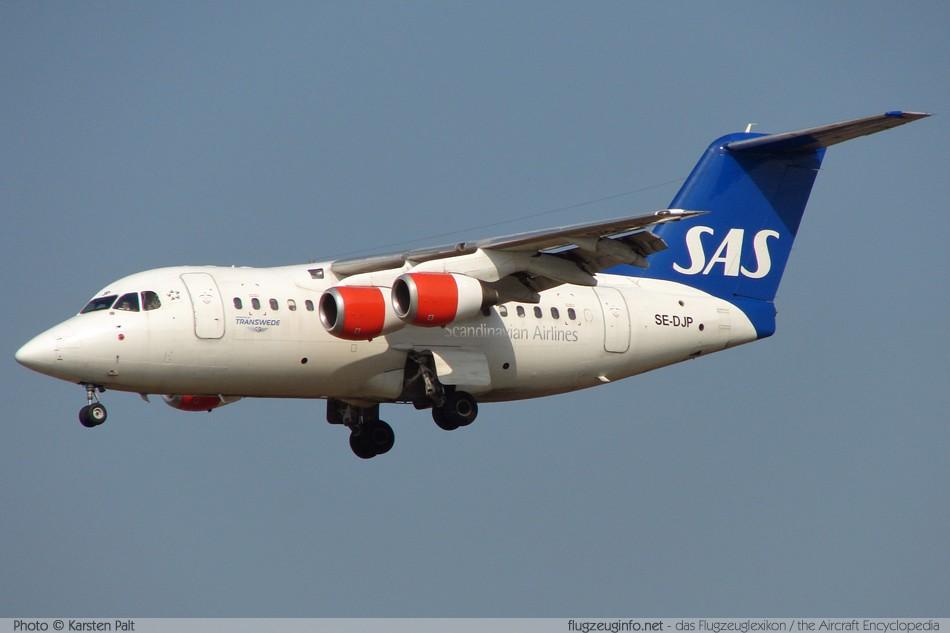 bae avro rj70 transwede airways se djp cn e1254