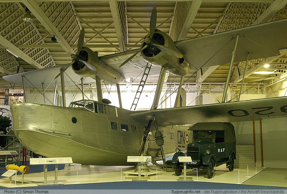 Stranraer biplane flying boat seaplane RAF Museum London