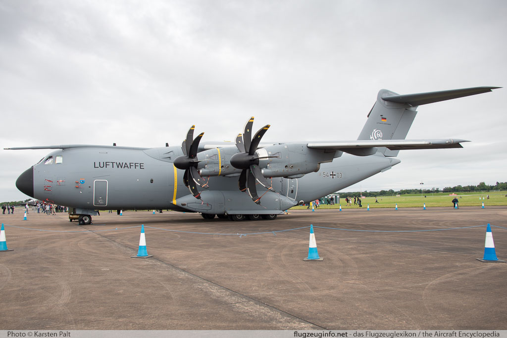Airbus Military A400M German Air Force / Luftwaffe 54+03 030 Royal International Air Tattoo 2016 RAF Fairford (EGVA / FFD) 2016-07-09 � Karsten Palt, ID 12745