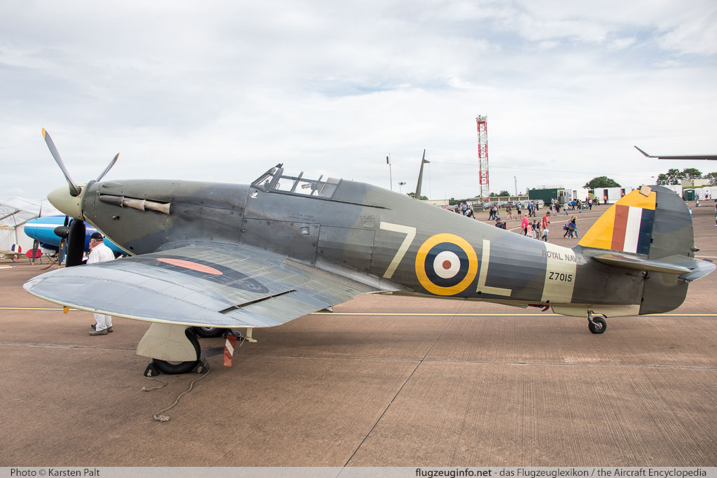 Hawker / CCF Sea Hurricane Mk.1B  G-BKTH CCF/41H/4013 Royal International Air Tattoo 2016 RAF Fairford (EGVA / FFD) 2016-07-09 � Karsten Palt, ID 12848
