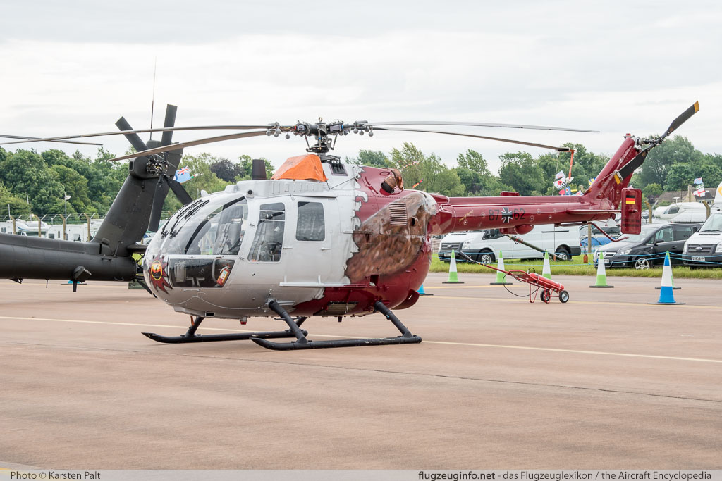 MBB Bo 105P1 German Army Aviation / Heer 87+62 6162 Royal International Air Tattoo 2016 RAF Fairford (EGVA / FFD) 2016-07-09 � Karsten Palt, ID 12885