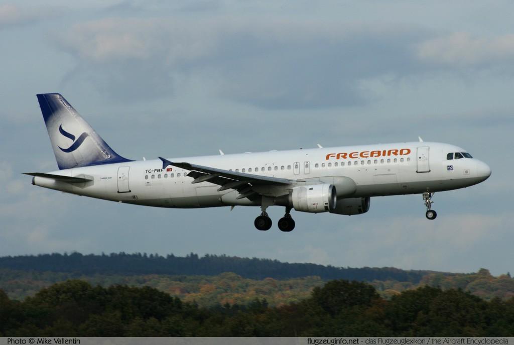 Airbus A320 212 Freebird Airlines Registrierung Tc Fbf