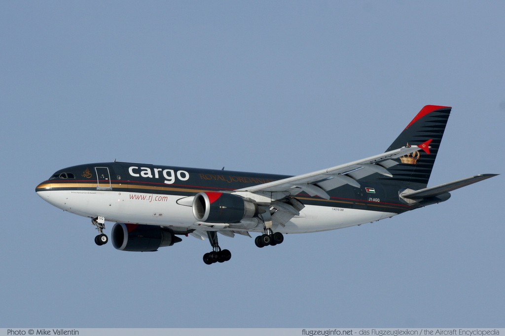 Airbus A310-304(F) Royal Jordanian Cargo JY-AGQ 445  Brussel/Bruxelles - Brussels Airport (EBBR / BRU) 2009-01-11 � Mike Vallentin, ID 1579
