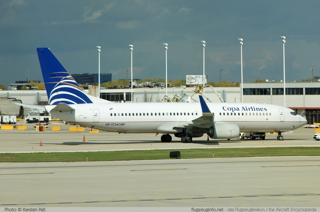 Boeing 737-8V3 (wl) Copa Airlines HP-1724CMP 38140 / 3810  Chicago O