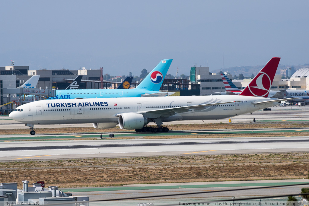 Boeing 777-3F2ER Turkish Airlines TC-JJM 40794 / 923  LAX International Airport (KLAX / LAX) 2015-06-01 � Karsten Palt, ID 11488