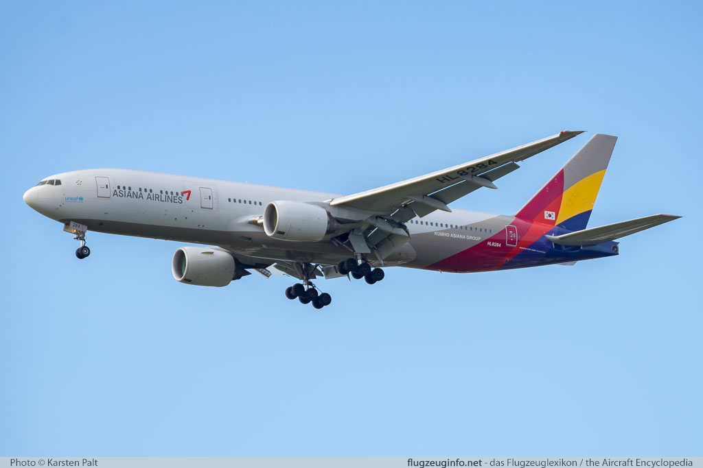 Boeing 777-28EER Asiana Airlines HL8284 40199 / 1117  London Heathrow (EGLL / LHR) 2016-07-08 � Karsten Palt, ID 12728