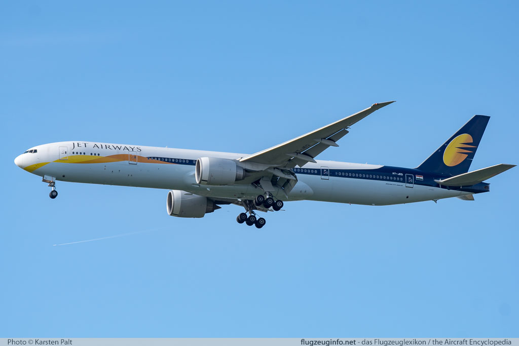 Boeing 777-35RER Jet Airways VT-JEQ 35161 / 693  London Heathrow (EGLL / LHR) 2016-07-08 � Karsten Palt, ID 12740
