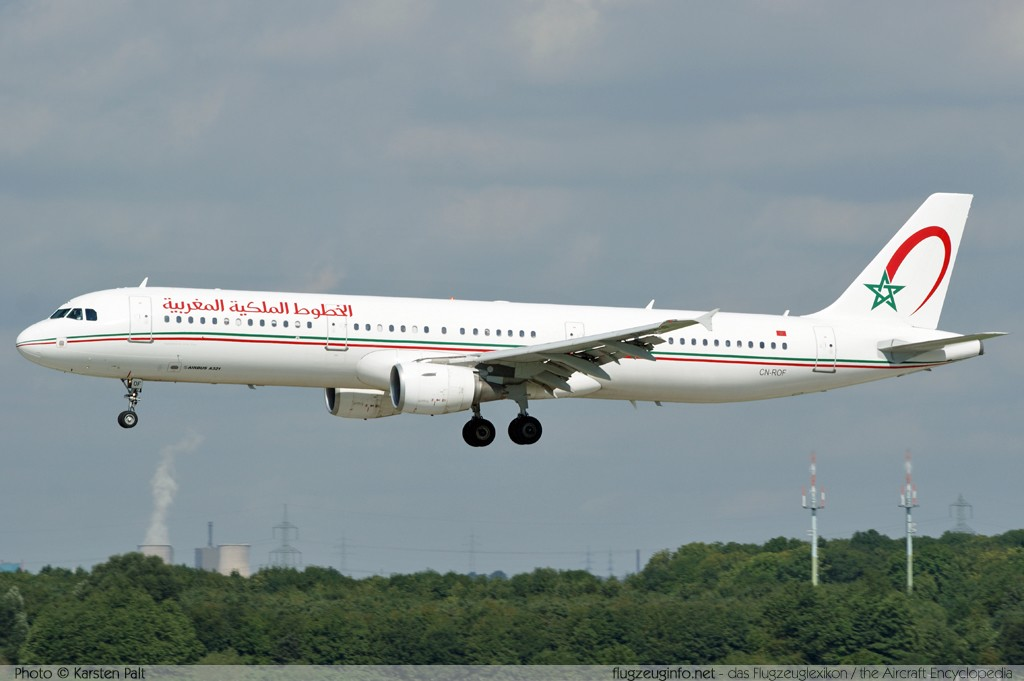 Airbus A321-211 Royal Air Maroc - RAM CN-ROF 2726  Düsseldorf International (EDDL / DUS) 2010-08-21 � Karsten Palt, ID 4069