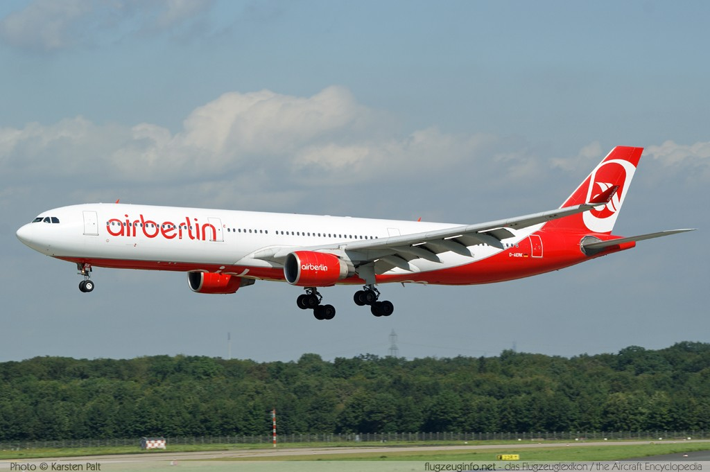 Airbus A330-322 Air Berlin D-AERK 120  Düsseldorf International (EDDL / DUS) 2010-08-21 � Karsten Palt, ID 4074