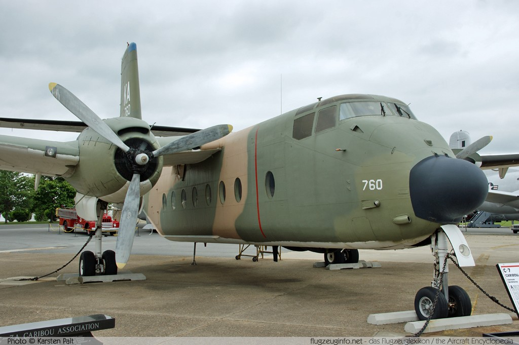 De Havilland Canada C-� Caribou (DHC-4A) United States Air Force (USAF) 63-9760 224 Air Mobility Command Museum Dover AFB, DE 2014-05-30 锟� Karsten Palt, ID 10079