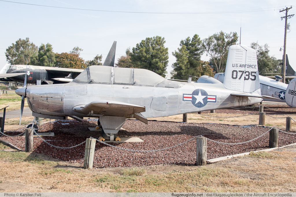 Beech YT-34A Mentor United States Air Force (USAF) 50-0735 G-4 Castle Air Museum Atwater, CA 2016-10-10 � Karsten Palt, ID 13195