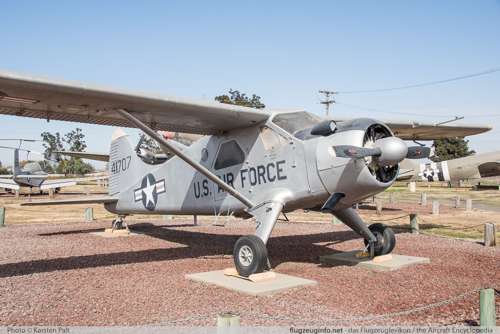 De Havilland Canada U-6A Beaver (DHC-2) United States Air Force (USAF) 54-1707 853 Castle Air Museum Atwater, CA 2016-10-10 � Karsten Palt, ID 13220