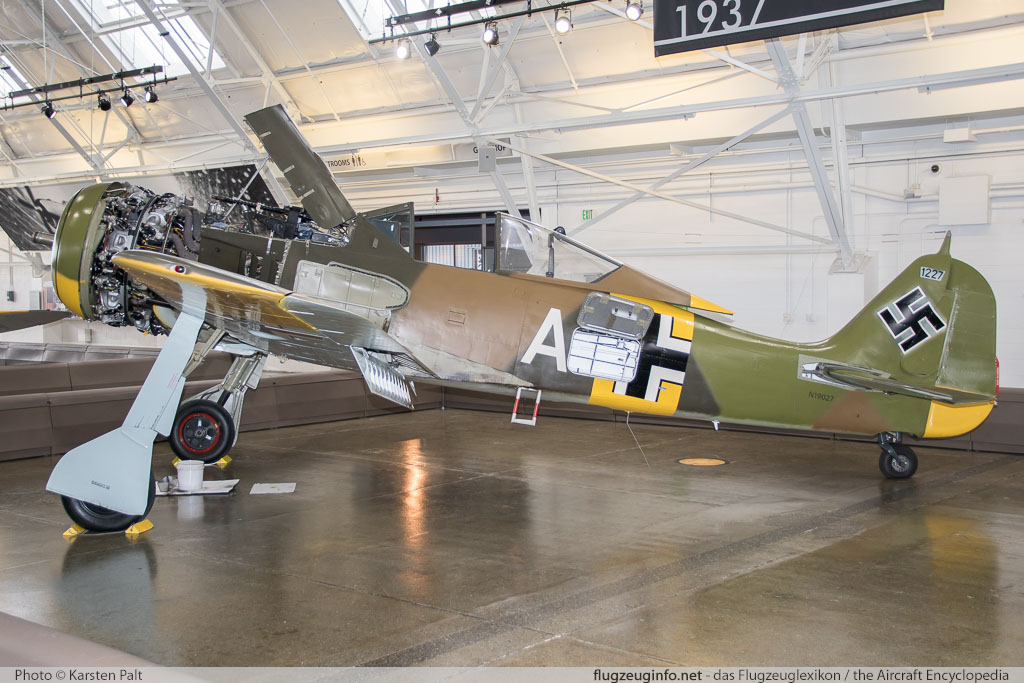 Focke-Wulf Fw 190A-5/U-3 Flying Heritage Collection N19027 151227 Flying Heritage Collection Everett, WA 2016-04-12 � Karsten Palt, ID 12358