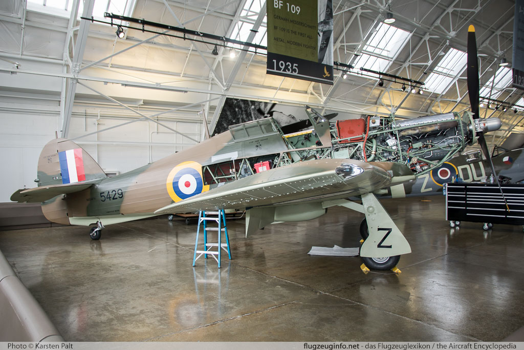 Hawker / CCF Hurricane Mk.12A Flying Heritage Collection NX54FH CCF/R32007 Flying Heritage Collection Everett, WA 2016-04-12 � Karsten Palt, ID 12362