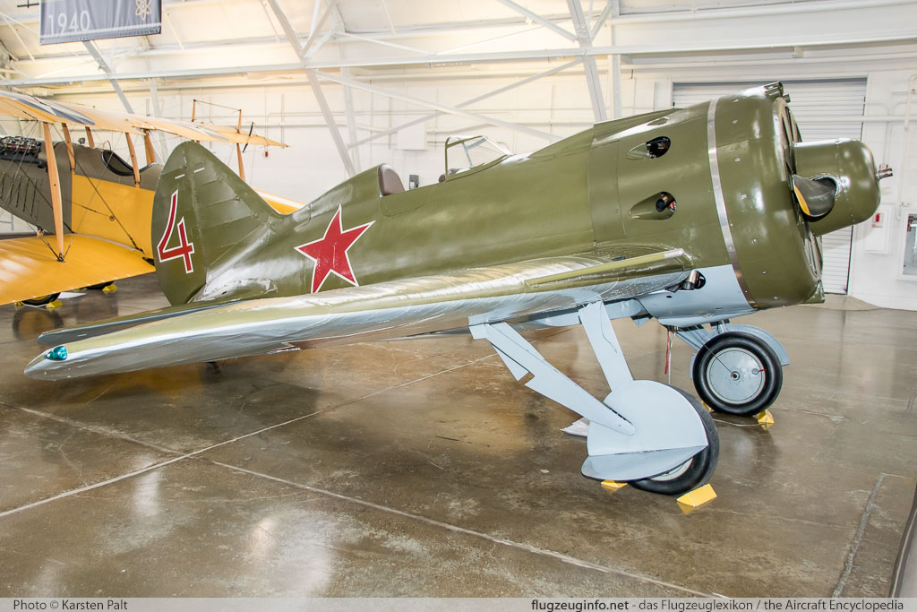 Polikarpov I-16 Type 24 Flying Heritage Collection NX7459 2421014 Flying Heritage Collection Everett, WA 2016-04-12 � Karsten Palt, ID 12382