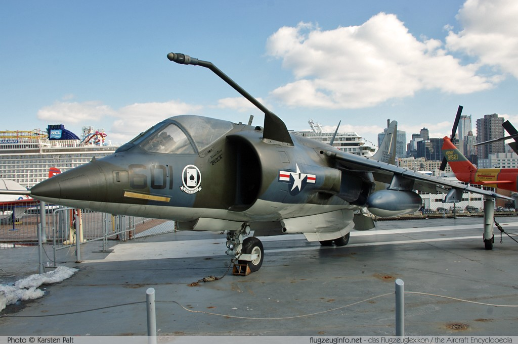 Hawker-Siddeley / BAe AV-8A Harrier United States Marine Corps (USMC) 159232 712141 Intrepid Air, Space & Sea Museum New York City, NY 2014-03-09 � Karsten Palt, ID 7879