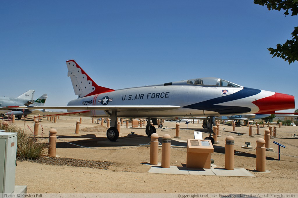 North American F-100D Super Sabre United States Air Force (USAF) 54-2299 223-179 Joe Davies Heritage Airpark Plant 42 Palmdale, CA 2012-06-10 � Karsten Palt, ID 5836