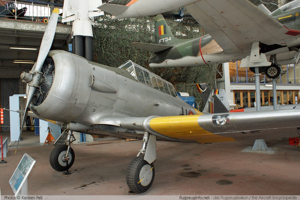 North American AT-6D Harvard III Belgian Air Force H-21 88-15950 Koninklijk Legermuseum Brussel 2013-04-01 � Karsten Palt, ID 6499