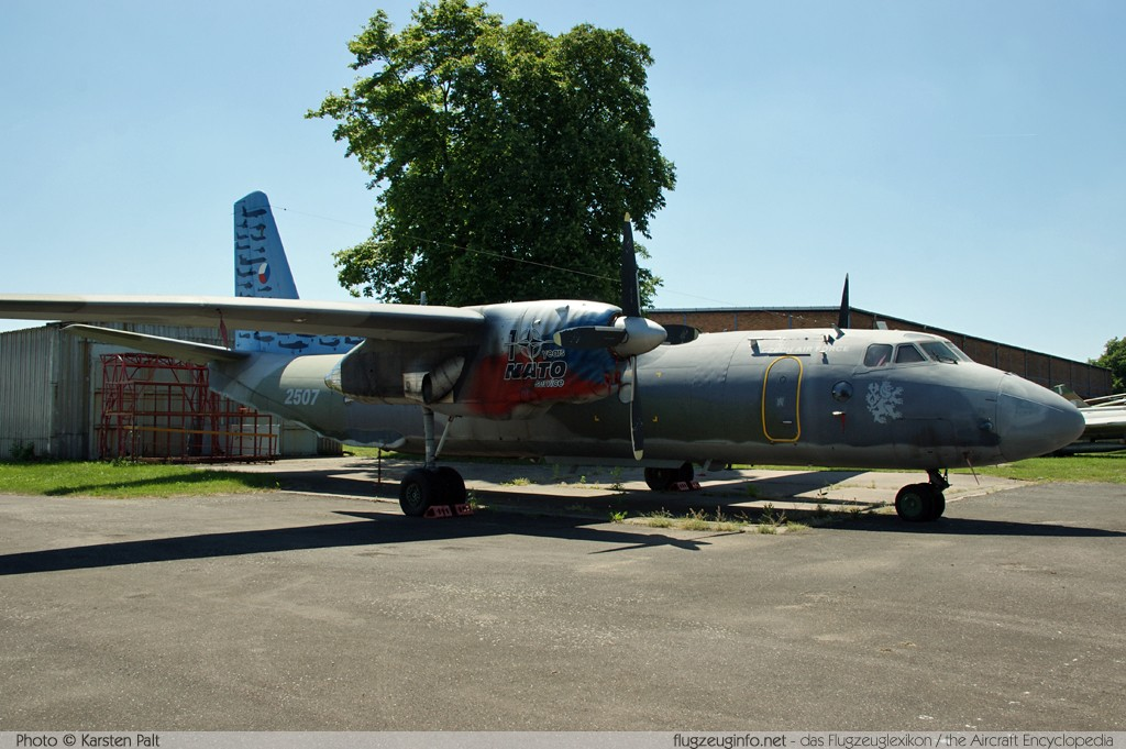 Antonov An-26 Czech Air Force 2507 12507 Letecke Muzeum Kbely Prague 2014-06-08 � Karsten Palt, ID 10475