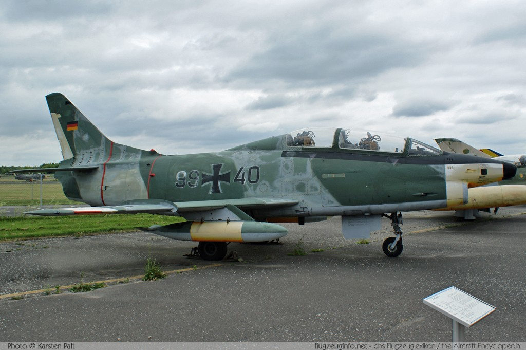 Aeritalia / Fiat G.91T/3 German Air Force / Luftwaffe 99+40 D621 Luftwaffenmuseum Berlin - Gatow 2010-06-12 � Karsten Palt, ID 3515