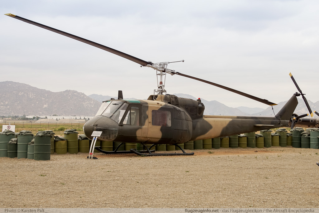 Bell Helicopter 204 UH-1F Iroquois United States Air Force (USAF) 63-13143 7003 March Field Air Museum Riverside, CA 2015-06-04 � Karsten Palt, ID 11252