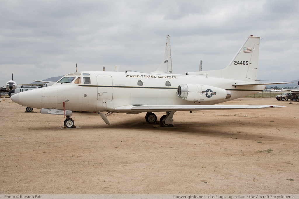 North American CT-39A Sabreliner United States Air Force (USAF) 62-4465 276-18 March Field Air Museum Riverside, CA 2015-06-04 � Karsten Palt, ID 11331