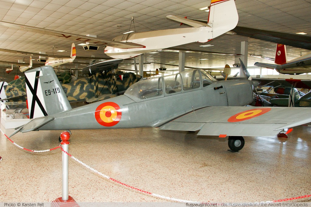 AISA I-115 / E.9 Spanish Air Force E.9-119 119 Museo del Aire Madrid 2014-10-23 � Karsten Palt, ID 10604
