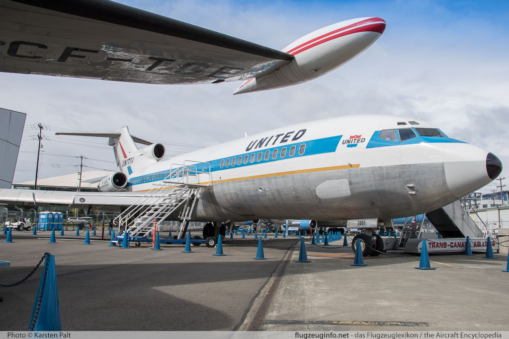 Boeing 727-22 United Airlines N7001U 18293 / 1 Museum of Flight Seattle, WA 2016-04-12 � Karsten Palt, ID 12402