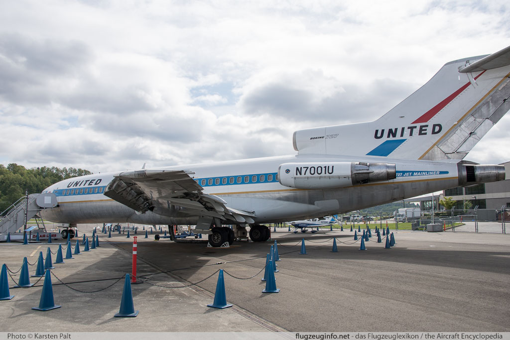 Boeing 727-22 United Airlines N7001U 18293 / 1 Museum of Flight Seattle, WA 2016-04-12 � Karsten Palt, ID 12403