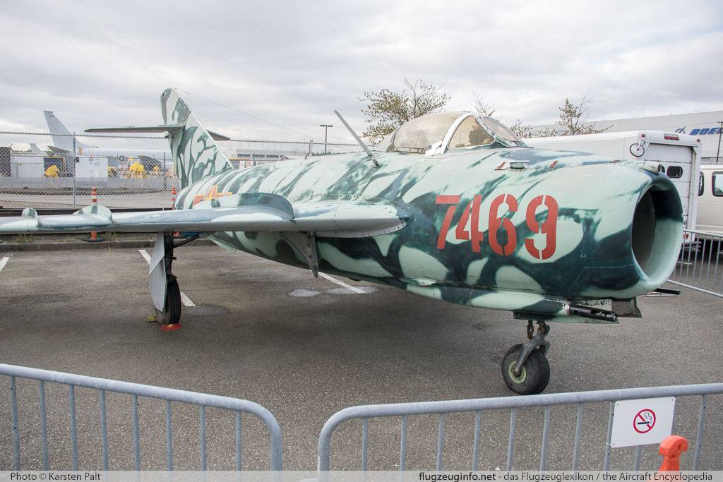 Mikoyan Gurevich MiG-17F Moroccan Air Force 7469 1406016 Museum of Flight Seattle, WA 2016-04-12 � Karsten Palt, ID 12452