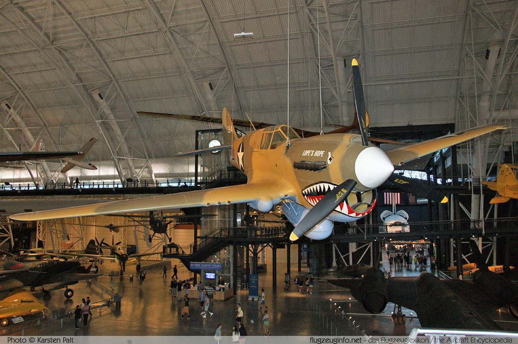 Curtiss P-40E Kittyhawk Mk1A Royal Canadian Air Force AK875 15349 NASM Udvar Hazy Center Chantilly, VA 2014-05-28 � Karsten Palt, ID 10254