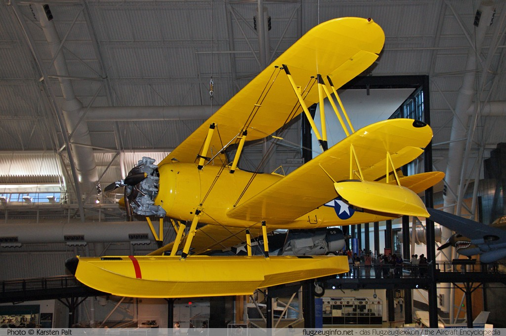 Naval Aircraft Factory N3N-3 Canary United States Navy 3022  NASM Udvar Hazy Center Chantilly, VA 2014-05-28 � Karsten Palt, ID 10328