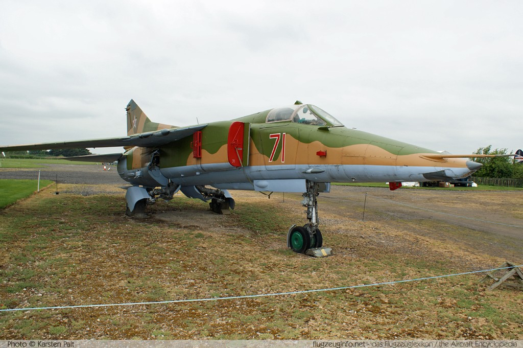 Mikoyan Gurevich MiG-27K Russian Air Force 71 61912507006 Newark Air Museum Winthorpe, Newark 2013-05-18 � Karsten Palt, ID 6951