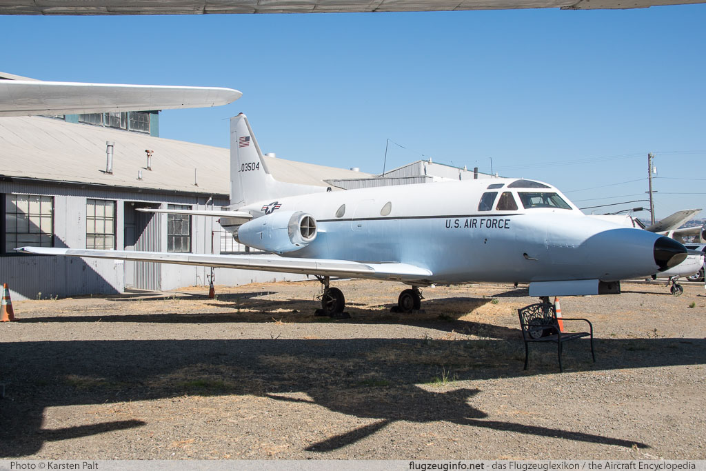 North American CT-39A Sabreliner United States Air Force (USAF) 60-3504 265-32 Oakland Aviation Museum Oakland, CA 2016-10-09 � Karsten Palt, ID 13183