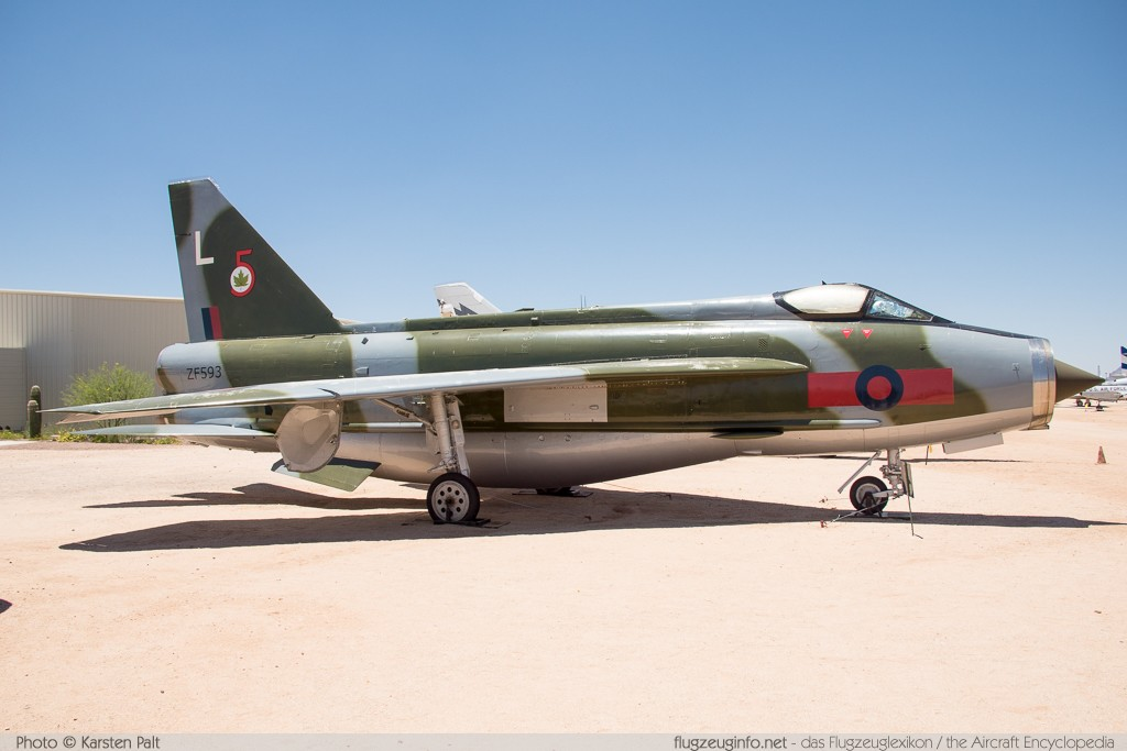 BAC / English Electric Lightning F.53 Royal Saudi Air Force ZF593 95298 Pima Air and Space Museum Tucson, AZ 2015-06-03 � Karsten Palt, ID 10874