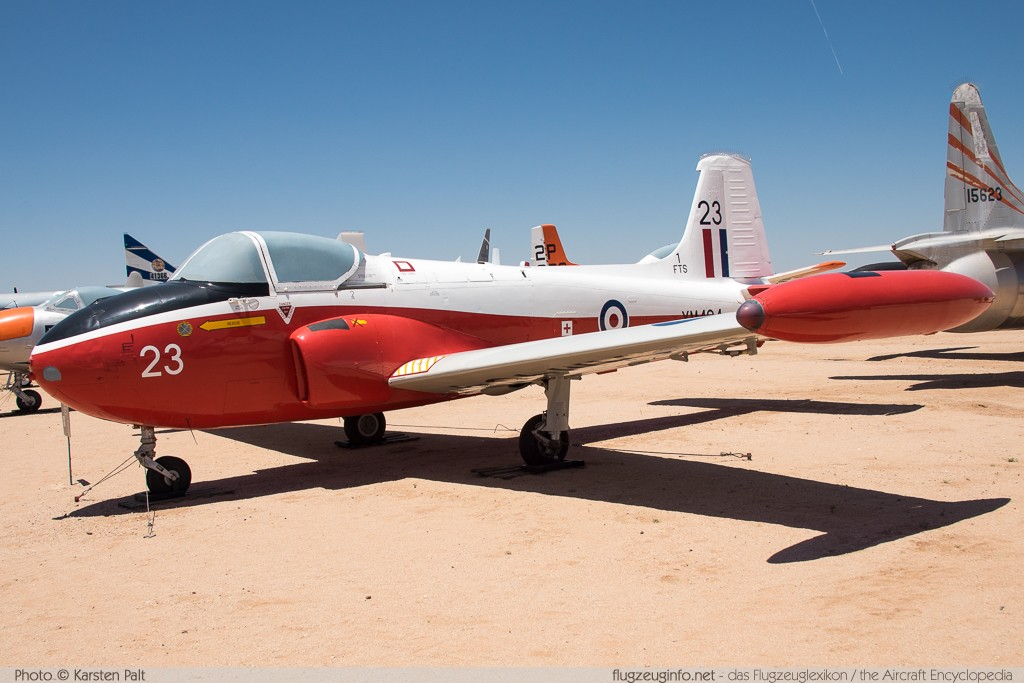 BAC P.84 Jet Provost T3A Royal Air Force XM464 PAC/W/9272 Pima Air and Space Museum Tucson, AZ 2015-06-03 � Karsten Palt, ID 10875