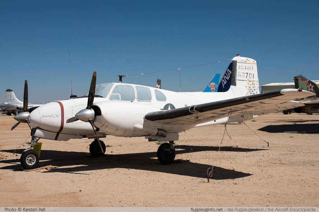 Beech U-8D Seminole United States Army 56-3701 LH-102 Pima Air and Space Museum Tucson, AZ 2015-06-03 � Karsten Palt, ID 10889