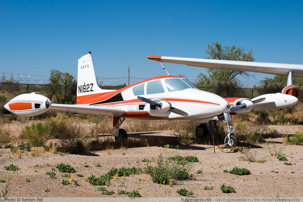 Cessna 310A US Forest Service - USFS N182Z 38157 Pima Air and Space Museum Tucson, AZ 2015-06-03 � Karsten Palt, ID 10943