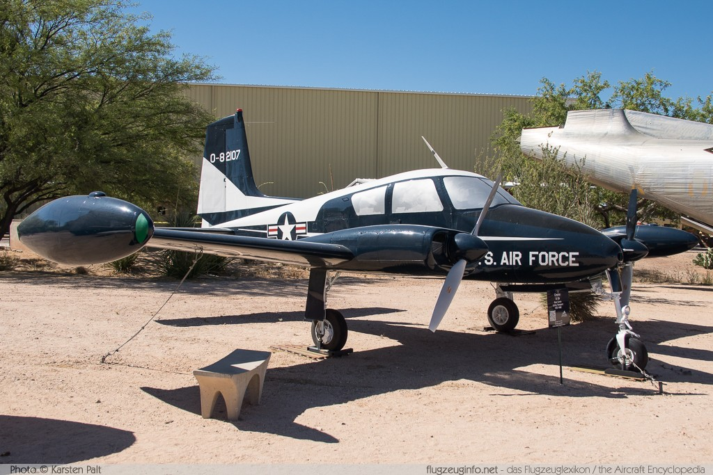 Cessna U-3A Blue Canoe (310A) United States Air Force (USAF) 58-2107 38081 Pima Air and Space Museum Tucson, AZ 2015-06-03 � Karsten Palt, ID 10947