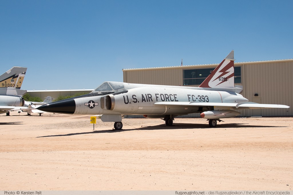 Convair F-102A Delta Dagger United States Air Force (USAF) 56-1393 8-10-340 Pima Air and Space Museum Tucson, AZ 2015-06-03 � Karsten Palt, ID 10964