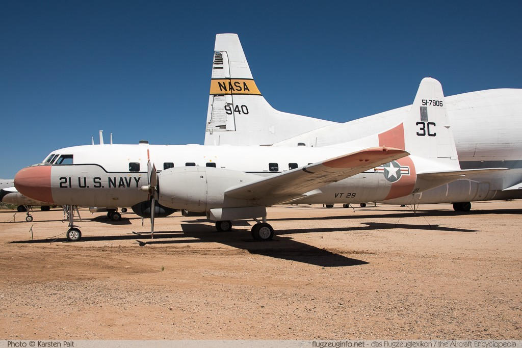 Convair T-29B Flying Classroom (240-27) United States Navy 51-7906 318 Pima Air and Space Museum Tucson, AZ 2015-06-03 � Karsten Palt, ID 10967