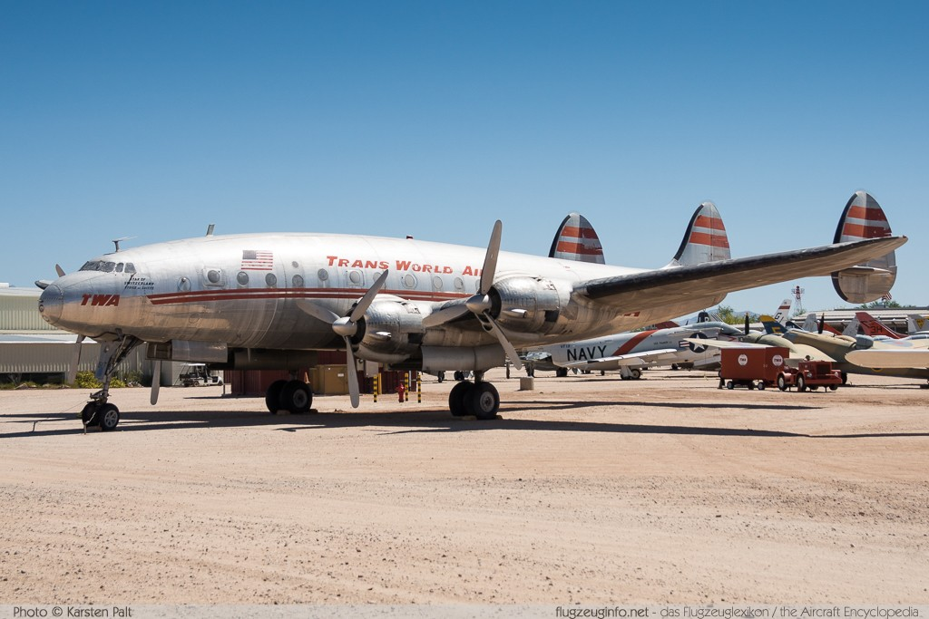 Lockheed L-049 Constellation TWA - Trans World Airlines N90831 1970 Pima Air and Space Museum Tucson, AZ 2015-06-03 � Karsten Palt, ID 11091