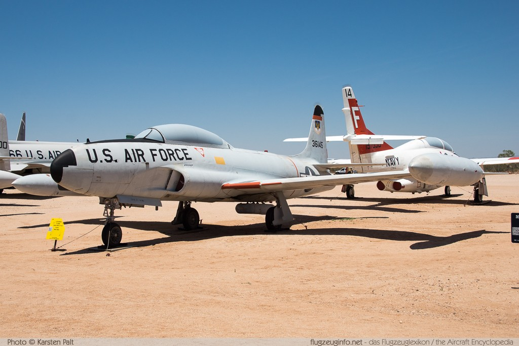 Lockheed T-33A United States Air Force (USAF) 53-6145 580-9766 Pima Air and Space Museum Tucson, AZ 2015-06-03 � Karsten Palt, ID 11106