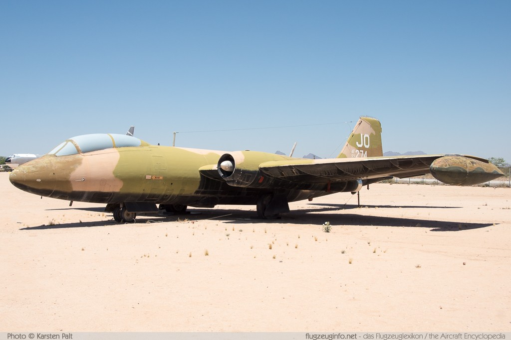 Martin B-57E Canberra United States Air Force (USAF) 55-4274 376 Pima Air and Space Museum Tucson, AZ 2015-06-03 � Karsten Palt, ID 11117