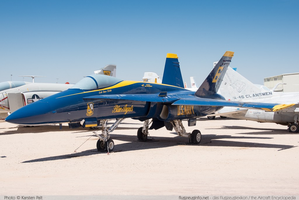 McDonnell Douglas / Boeing F/A-18A Hornet United States Navy 163093 0475/A391 Pima Air and Space Museum Tucson, AZ 2015-06-03 � Karsten Palt, ID 11130