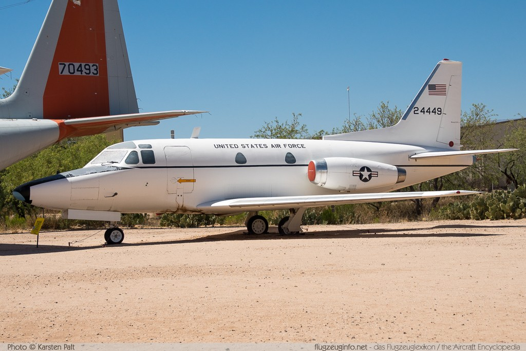 North American CT-39A Sabreliner United States Air Force (USAF) 62-4449 276-2 Pima Air and Space Museum Tucson, AZ 2015-06-03 � Karsten Palt, ID 11148