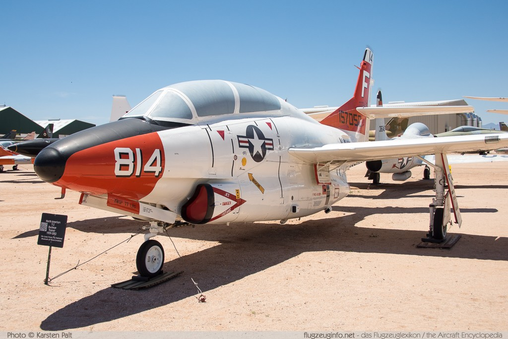 North American T-2C Buckeye United States Navy 157050 332-21 Pima Air and Space Museum Tucson, AZ 2015-06-03 � Karsten Palt, ID 11160