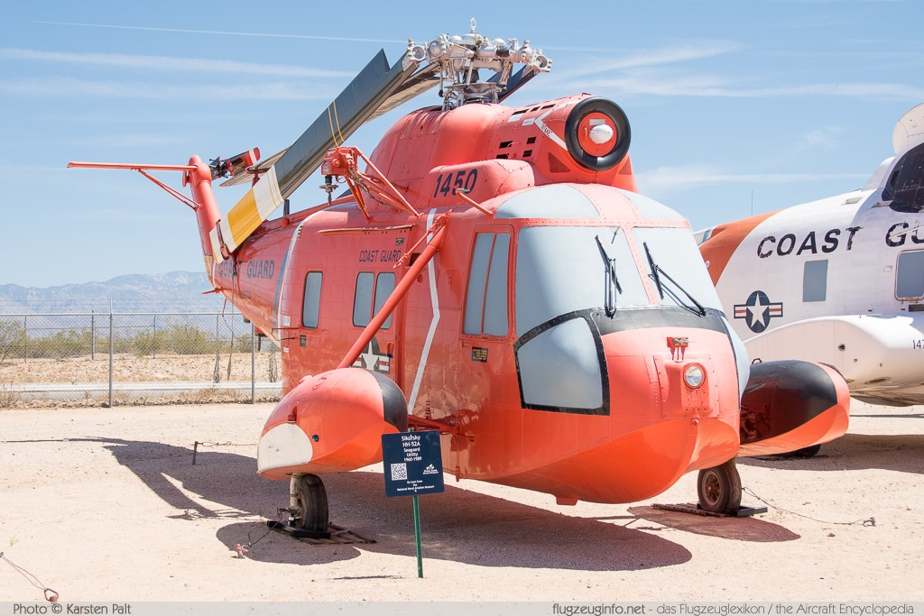 Sikorsky HH-52A Seaguard United States Coast Guard 1450 62-133 Pima Air and Space Museum Tucson, AZ 2015-06-03 � Karsten Palt, ID 11195